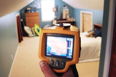 Screen view of thermal imaging system