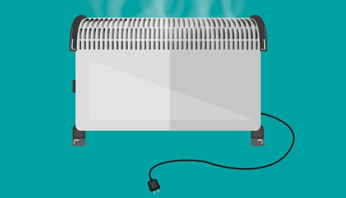 Graphic of electric space heater