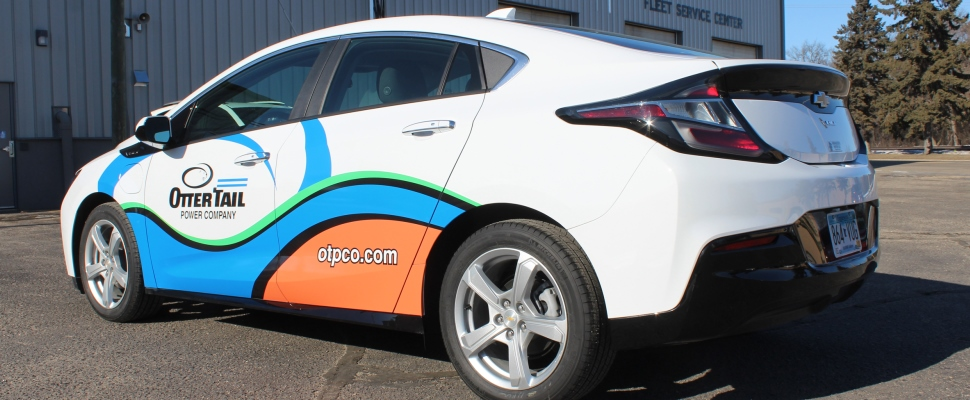 Our new electric vehicle, a Chevrolet Volt