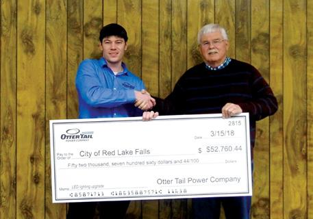 Red Lake Falls rebate check