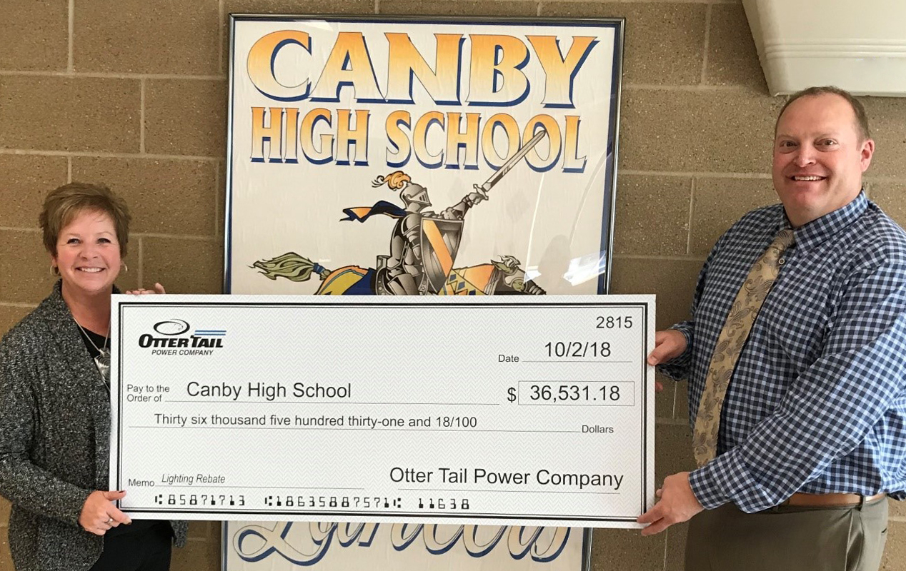 Canby High School receives rebate